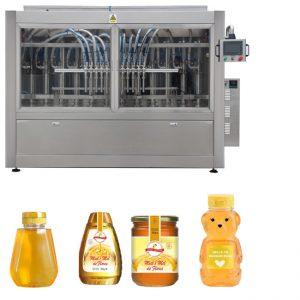 Automaatne servo-kolb tüüpi kastmega mesi moosi kõrge viskoossusega vedelikuga täidis kork märgistamise masin rida